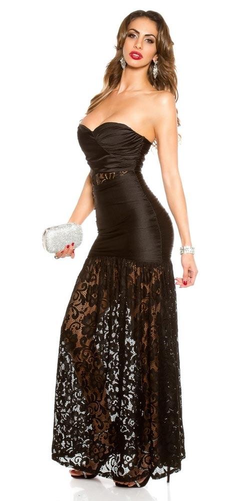 Průsvitná krajková sukně