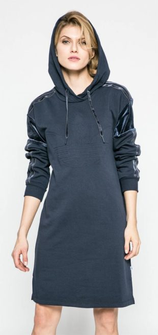 Šaty s kapucí adidas Originals