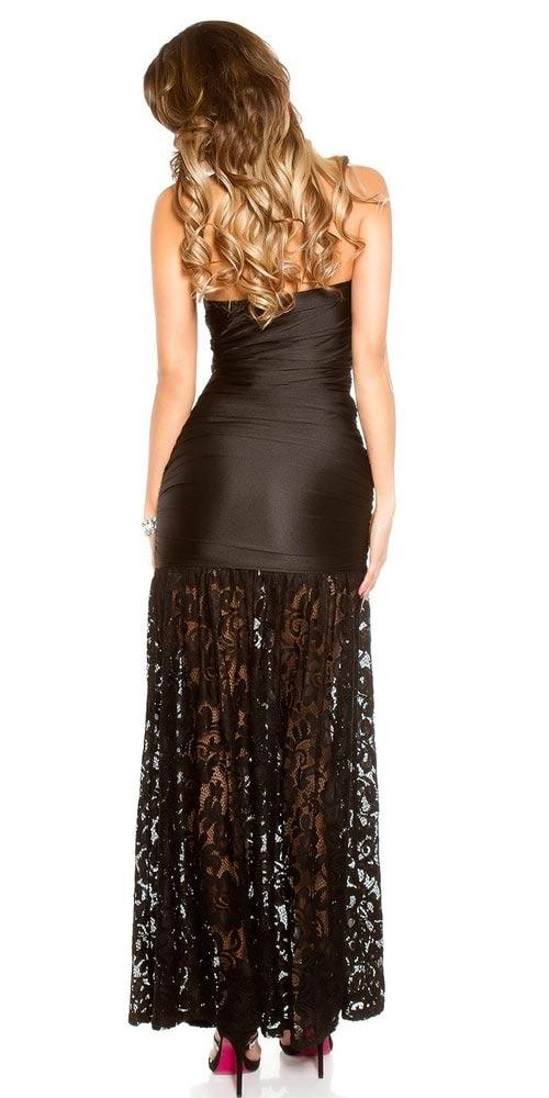 Šaty s dlouhou krajkovou sukní