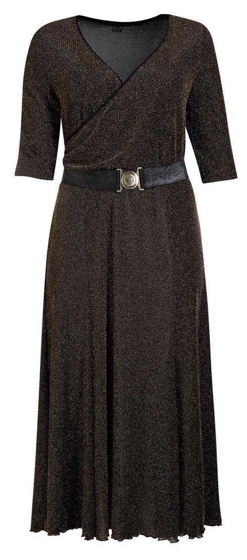 Slavnostní překládané šaty pro plnoštíhlé