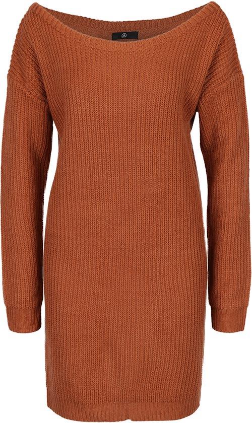 Teplé zimní svetrové šaty