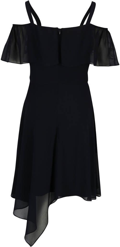 Černé šaty s asymetrickou sukní