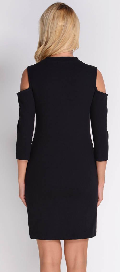 Černé šaty s průstřihy