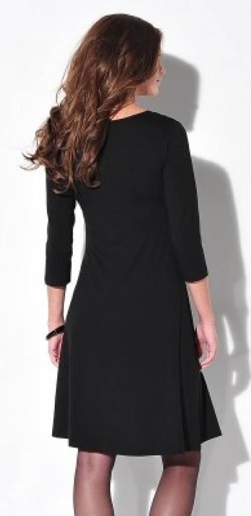 Černé šaty s tříčtvrtečním rukávem
