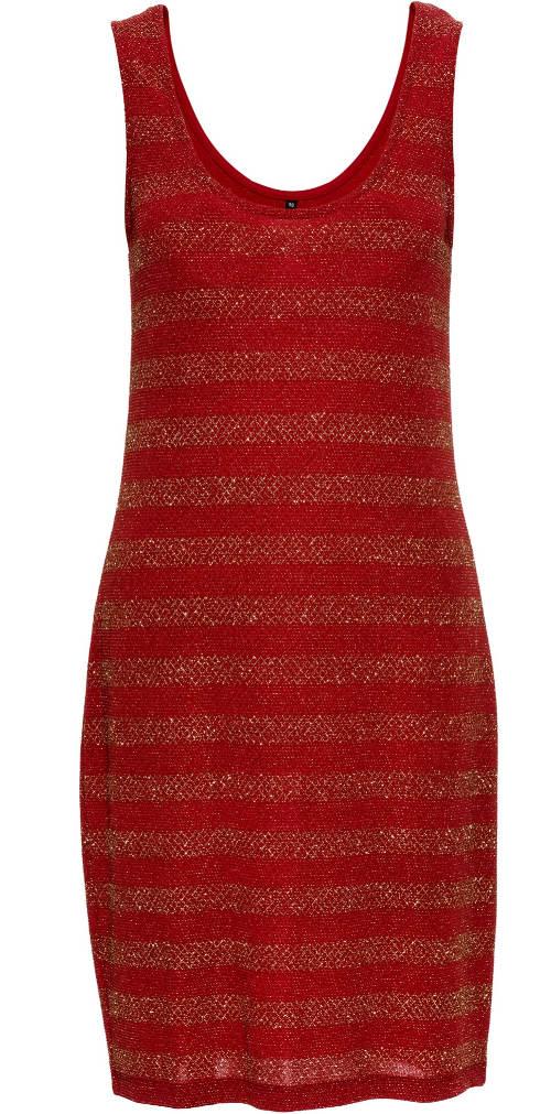 Červené šaty pro těhotné