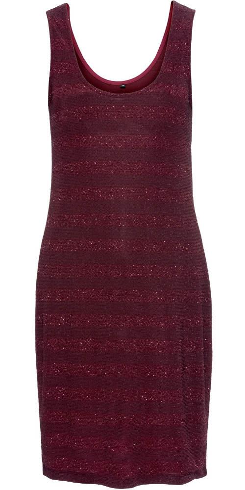 Fialové letní šaty