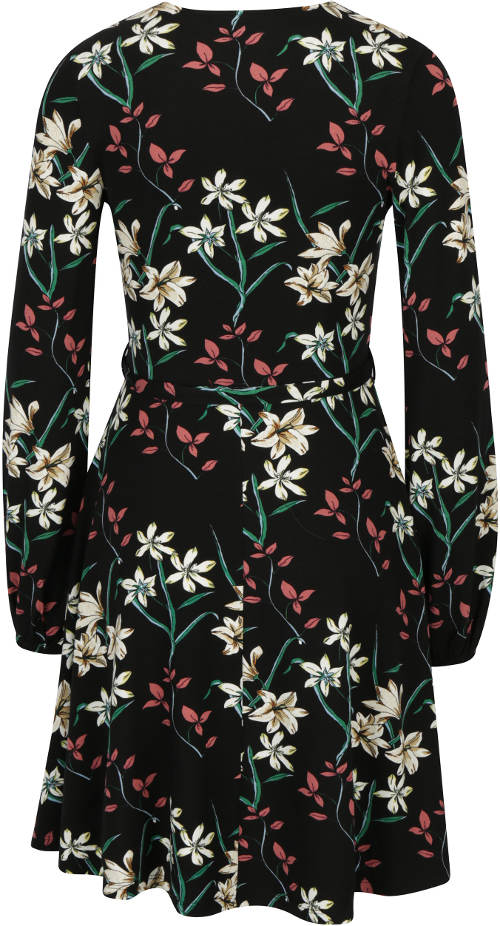 Květované šaty s opaskem