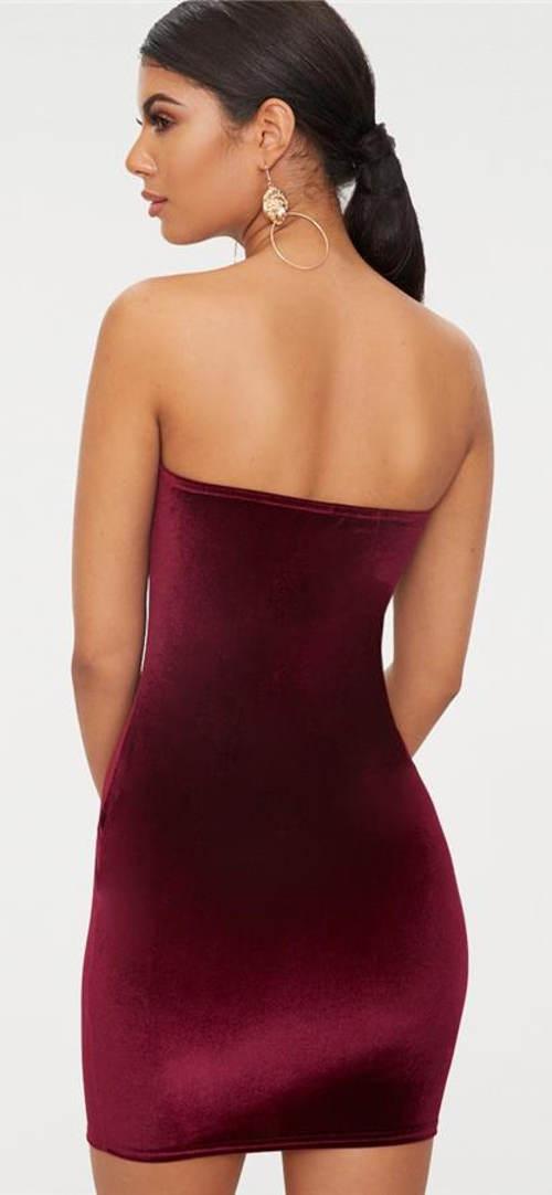 Lesklé sametové šaty