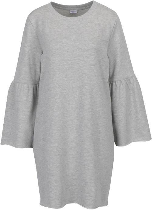 Oversized mikinové žíhané šaty