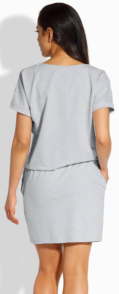Šedé bavlněné šaty