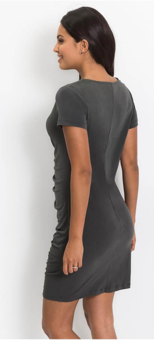 Šedé krátké šaty
