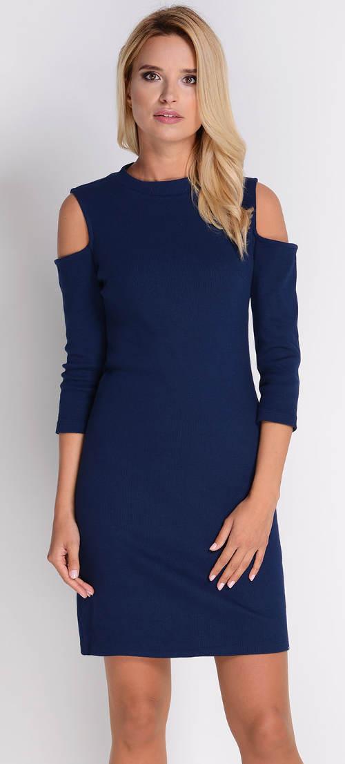 Tmavě modré dámské šaty