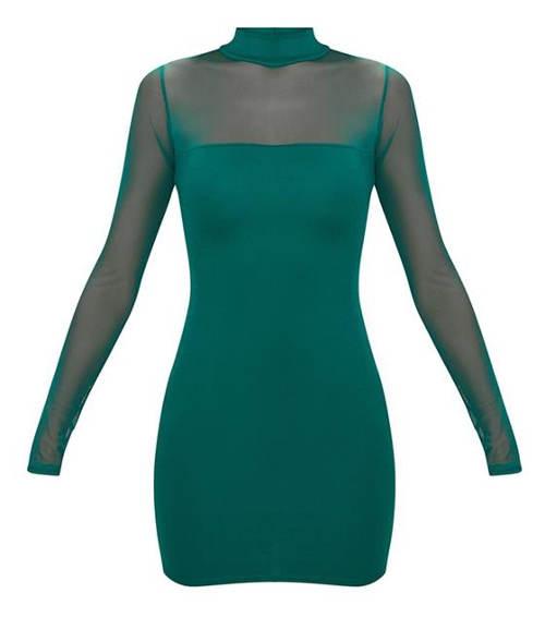 Zelené dámské mini šaty