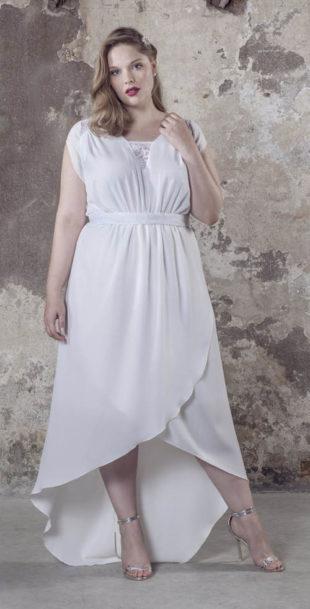 Asymetricky střižené šaty nejen pro baculky
