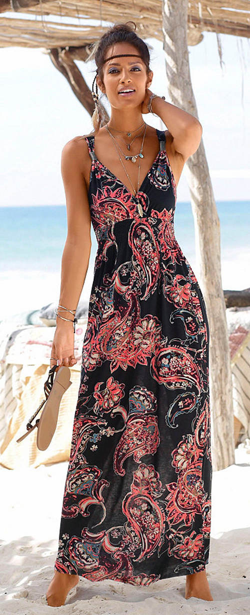 Dlouhé letní šaty LASCANA