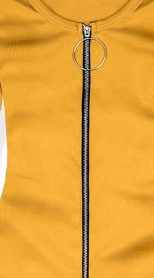 Šaty s celorozpínacím zipem