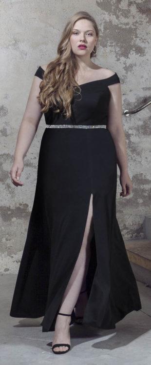 Společenské šaty pro plnoštíhlé Princesa