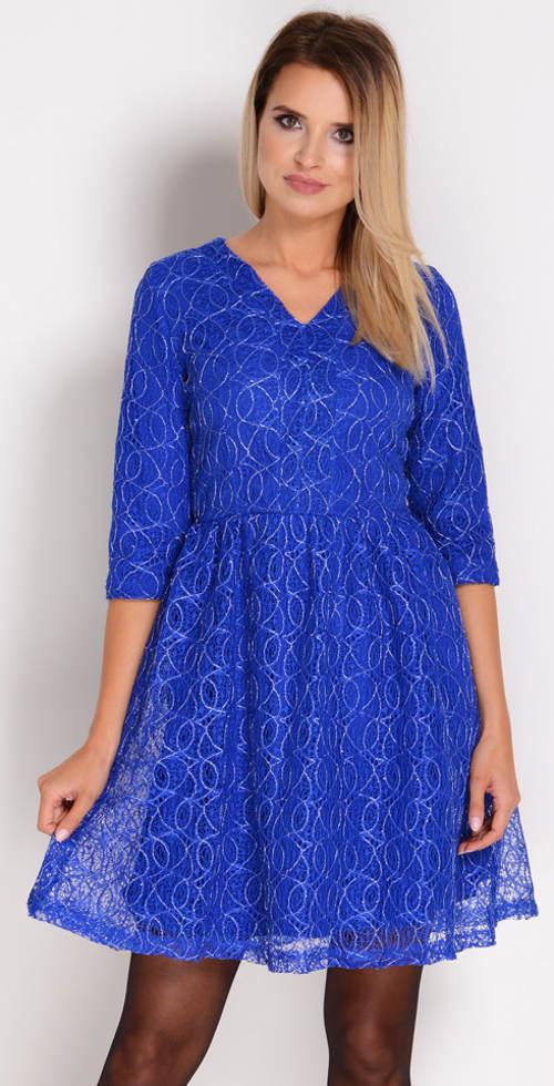 Světle modré šaty s 3/4 rukávem