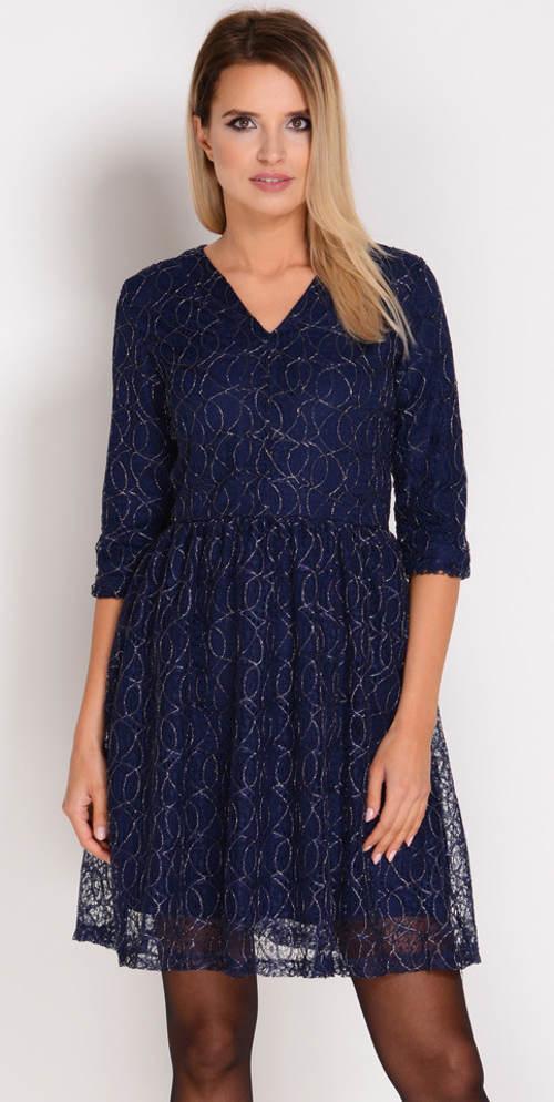 Tmavě modré šaty pro svatební matky