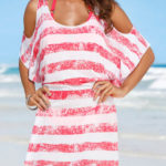 Tričkové šaty přes plavky