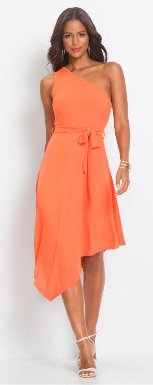 Asymetrické dámské šaty na jedno rameno