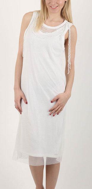 Bílé šaty Diesel pod kolena