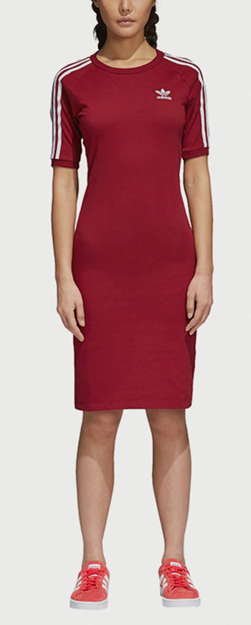 Červené sportovní šaty adidas Originals