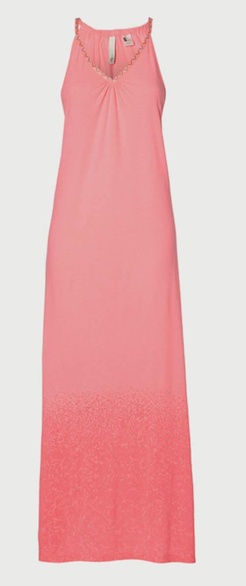 Dámské růžové maxi šaty O´Neill 3e02c3018f