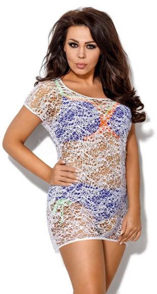 Děrované rychleschnoucí plážové šaty