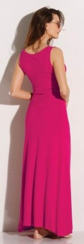Dlouhé růžové dámské šaty