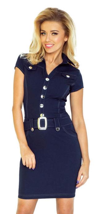 Elegantní pracovní šaty s límečkem