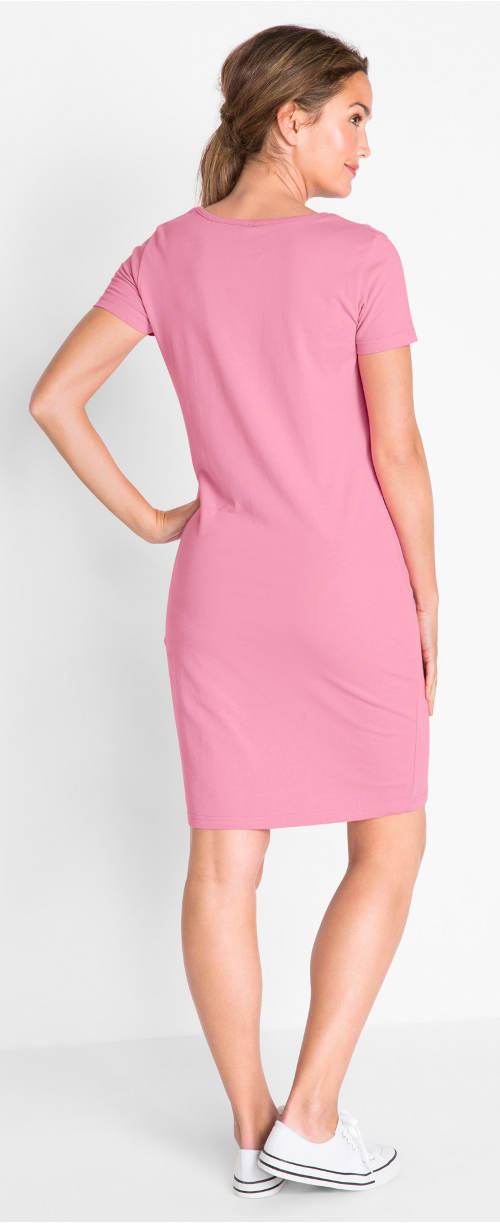 Jednoduché růžové šaty