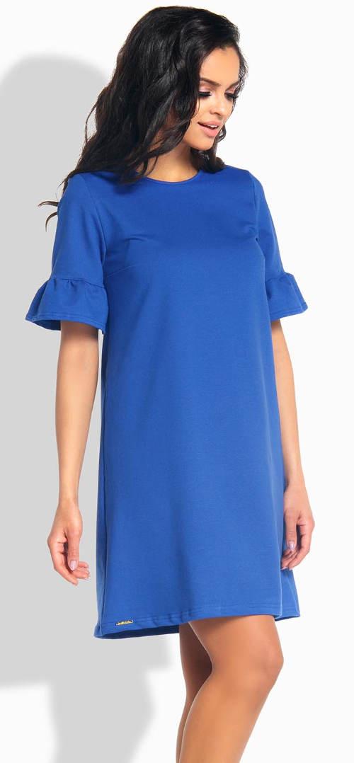 Modré těhotenské šaty