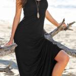 Pohodlné dlouhé letní šaty