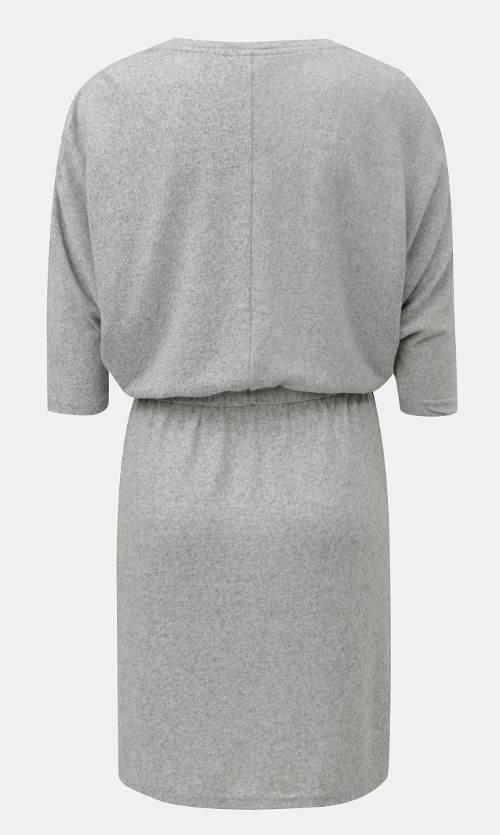 Pohodlné šedé šaty na běžné nošení