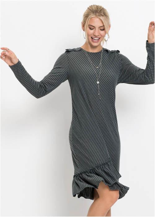 Pohodlné šedé volnočasové šaty