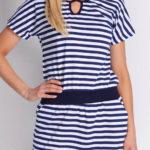 Pruhované námořnické šaty