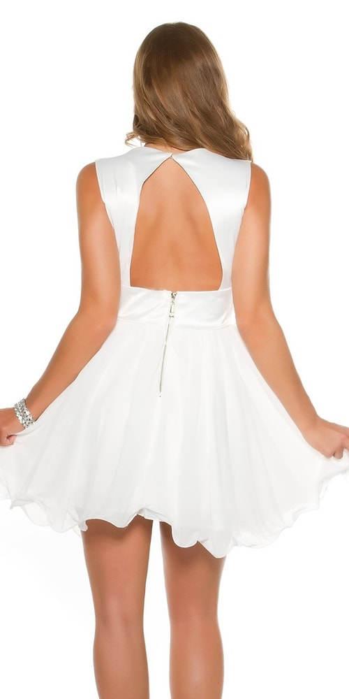 Šaty s bílou skládanou sukní