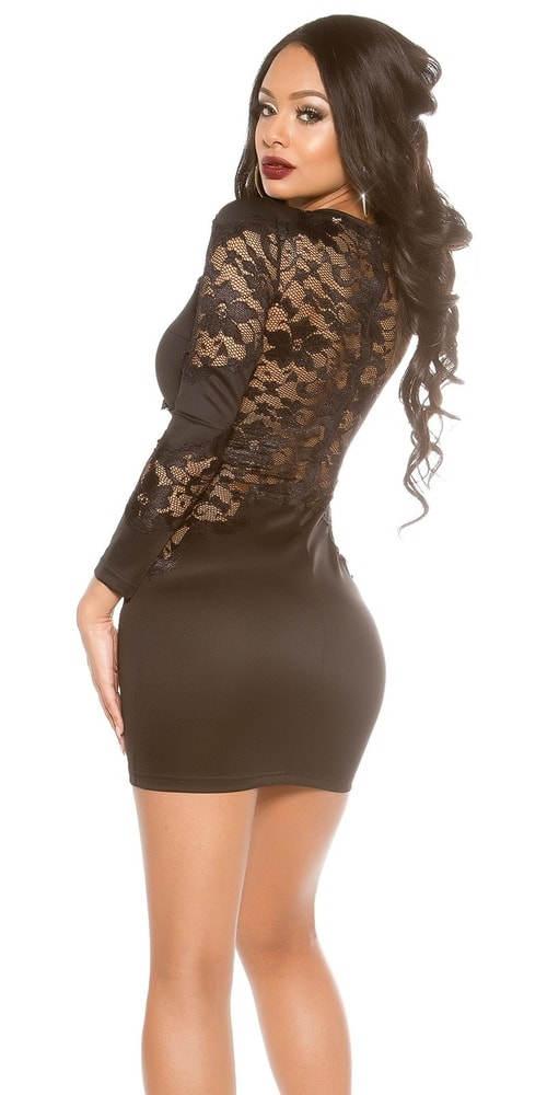 Společenské šaty s krajkovými zády