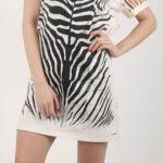 Sportovní zebrované dámské šaty Diesel