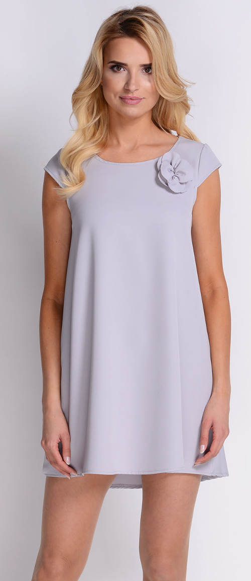 Vzdušné šedé letní šaty