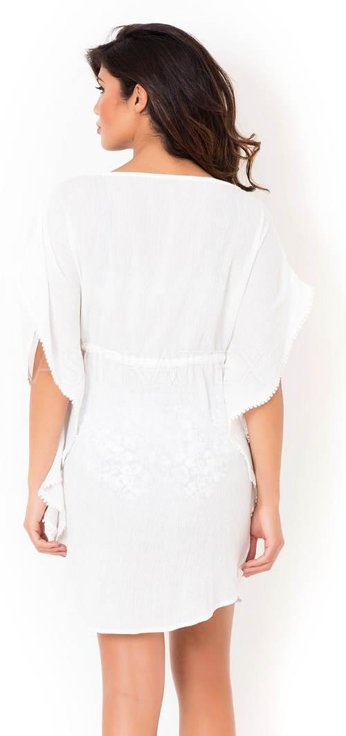 Bílé italské letní šaty