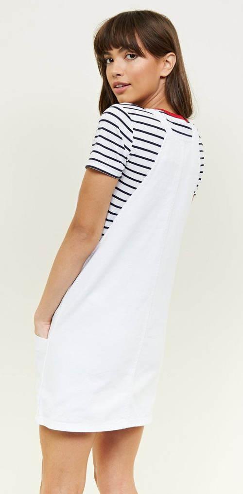 Bílé riflové šaty