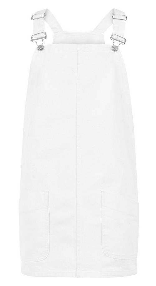 Bílé šaty s laclem