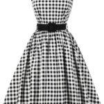 Kostičkované vintage šaty