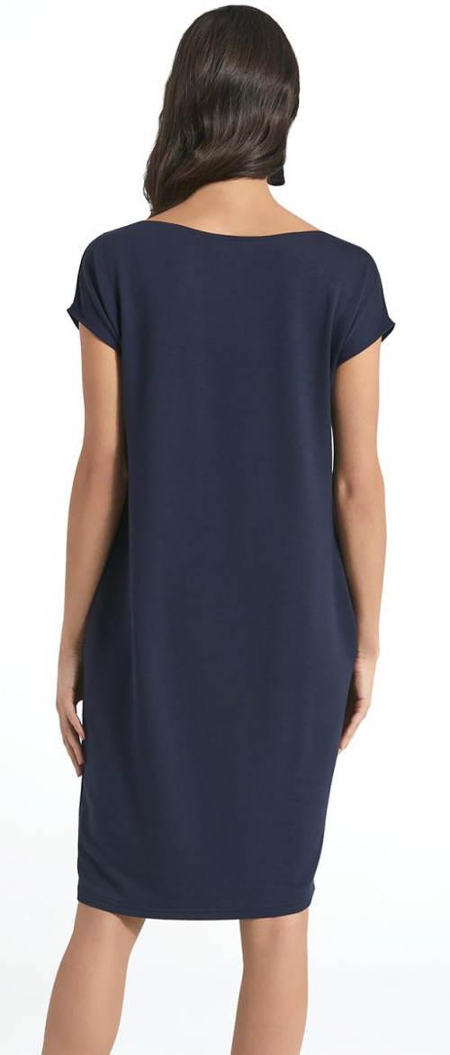 Pohodlné modré šaty