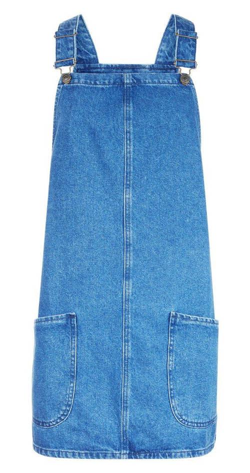 Riflové šaty zvonového střihu
