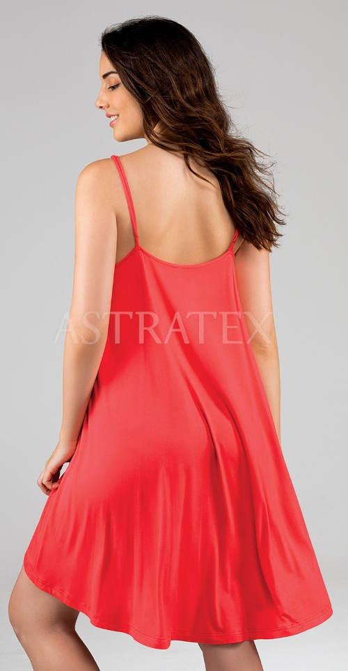 Volné červené plážové šaty