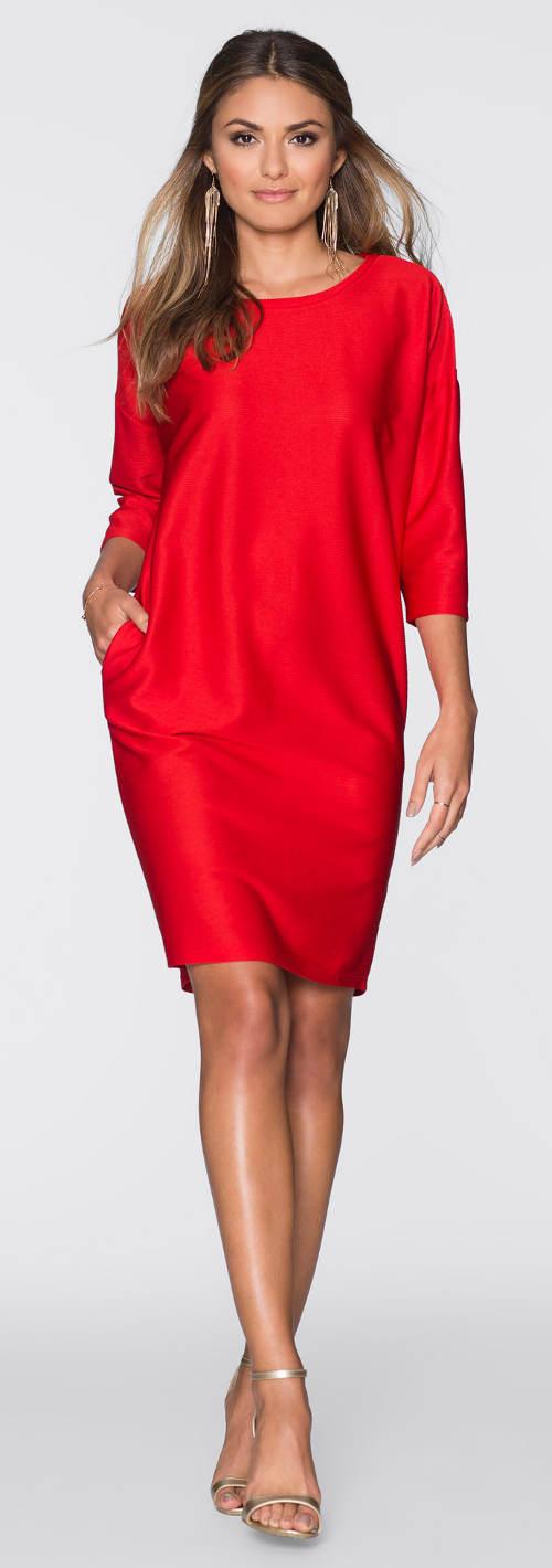 Oversized volné šaty s tříčtvrtečním rukávem