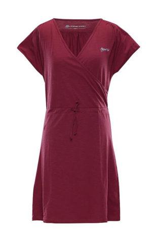 Zavinovací fialové dámské šaty Alpine Pro